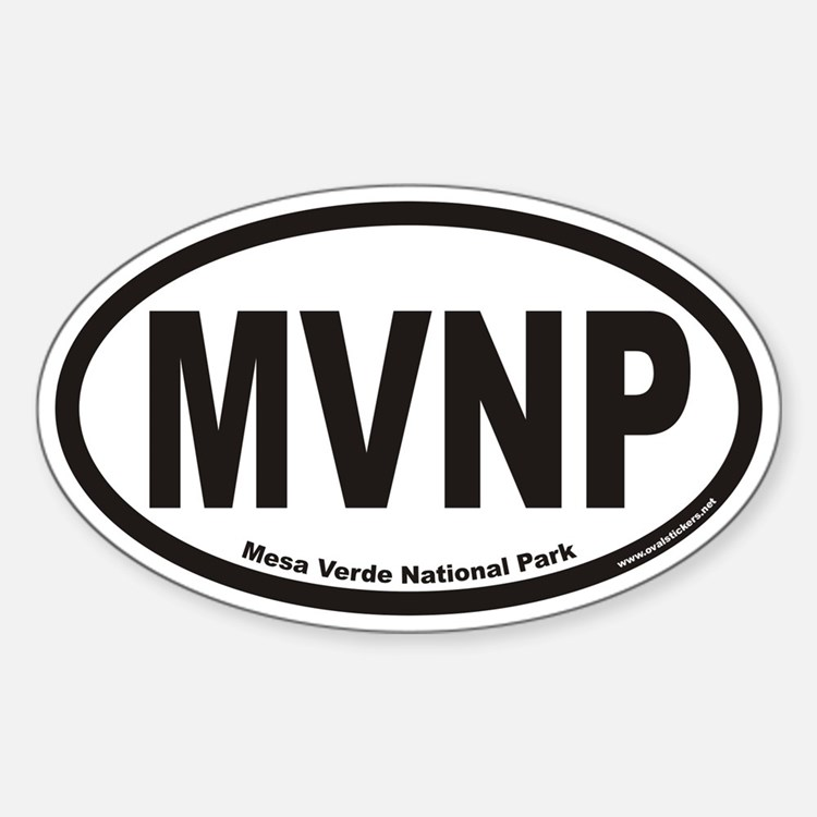 Mesa Verde National Park MVNP Euro Oval Decal