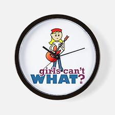 Guitar Girl Wall Clock