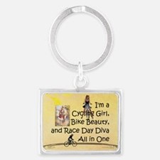 Cycling Race Diva Landscape Keychain Keychains