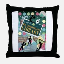 Escape From Mr. Lemoncellos Library Throw Pillow