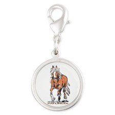 Haflinger Silver Round Charm