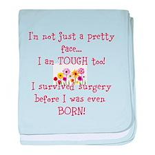 Unique Survive baby blanket