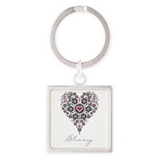 Love Stacy Square Keychain