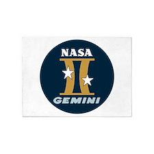 Project Gemini Program Logo 5'x7'Area Rug
