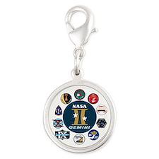 Gemini Commemorative Silver Round Charm