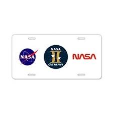 Project Gemini Program Logo Aluminum License Plate
