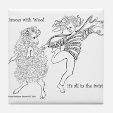 Dances with Wool ... Its all in the Twist Tile Coa