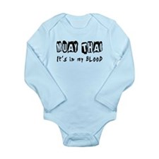 Muay Thai Martial Arts Long Sleeve Infant Bodysuit