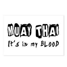 Muay Thai Martial Arts Postcards (Package of 8)