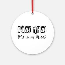 Muay Thai Martial Arts Ornament (Round)