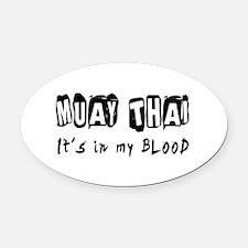 Muay Thai Martial Arts Oval Car Magnet