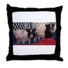 Baby piggies Throw Pillow