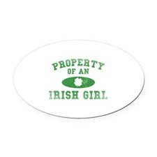 Property Of An Irish Oval Car Magnet