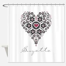Love Suzette Shower Curtain