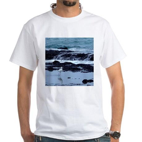 Snowy Egret White T-Shirt