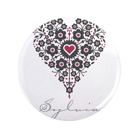 """Love Sylvia 3.5"""" Button (100 pack)"""