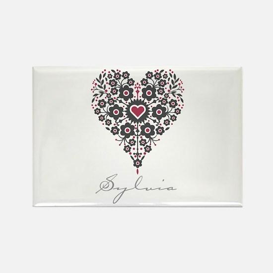 Love Sylvia Rectangle Magnet