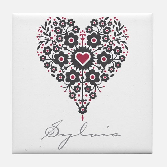 Love Sylvia Tile Coaster