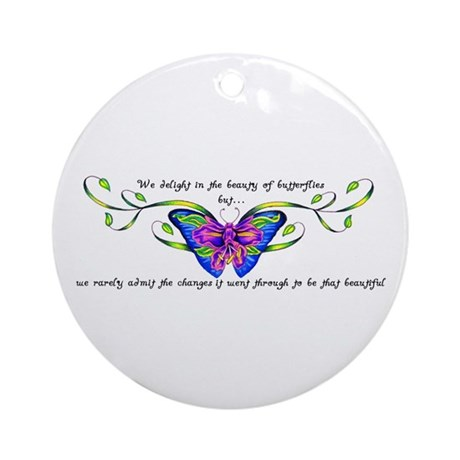 Butterfly Changes Ornament (Round)