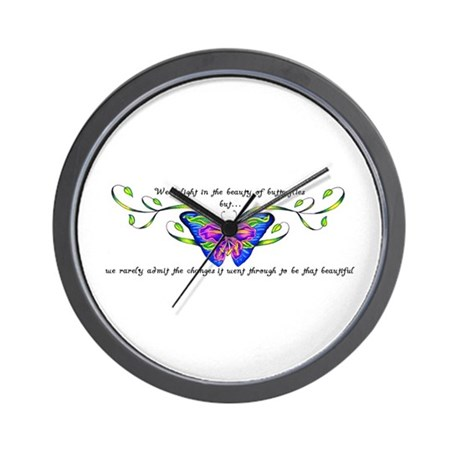 Butterfly Changes Wall Clock