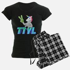 Emoji Unicorn TTYL Pajamas