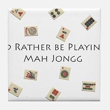 Cute Mah jongg Tile Coaster
