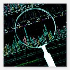 DNA analysis - Square Car Magnet 3