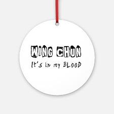 Wing Chun Martial Arts Ornament (Round)