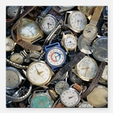 Broken wrist-watches - Square Car Magnet 3