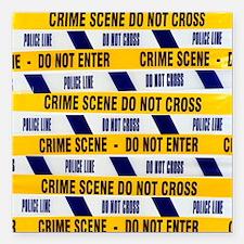 Crime scene tape - Square Car Magnet 3