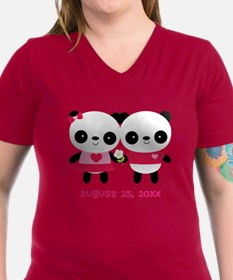 Personalized Panda Wedding T-Shirt