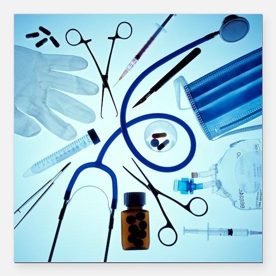 Medical equipment - Square Car Magnet 3
