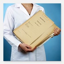 Medical records - Square Car Magnet 3