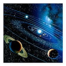 Artwork of the solar system - Square Car Magnet 3