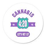 Cannabis 420 Round Car Magnet
