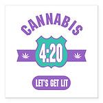 Cannabis 420 Square Car Magnet 3