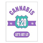 Cannabis 420 Small Poster