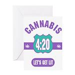 Cannabis 420 Greeting Card