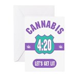 Cannabis 420 Greeting Cards (Pk of 20)