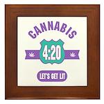 Cannabis 420 Framed Tile