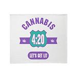 Cannabis 420 Throw Blanket