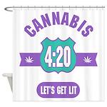 Cannabis 420 Shower Curtain