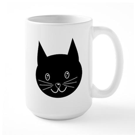 Black cat face mug by metarla3 for Animal face mugs