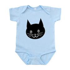 Black Cat Face. Body Suit