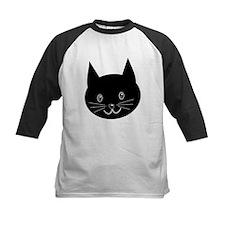 Black Cat Face. Baseball Jersey