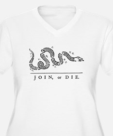 Join or Die Tribute to Benjamin Franklin Plus Size
