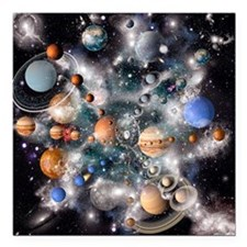Solar system planets - Square Car Magnet 3
