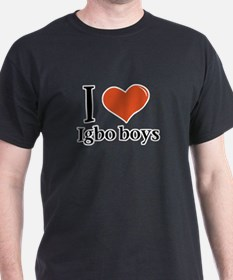 I love Igbo boys Black T-Shirt