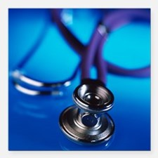 Stethoscope - Square Car Magnet 3