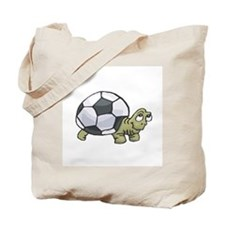 Soccerball Turtle Tote Bag